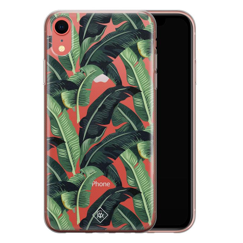 Casimoda iPhone XR transparant hoesje - Jungle