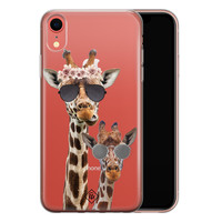 Casimoda iPhone XR transparant hoesje - Giraffe