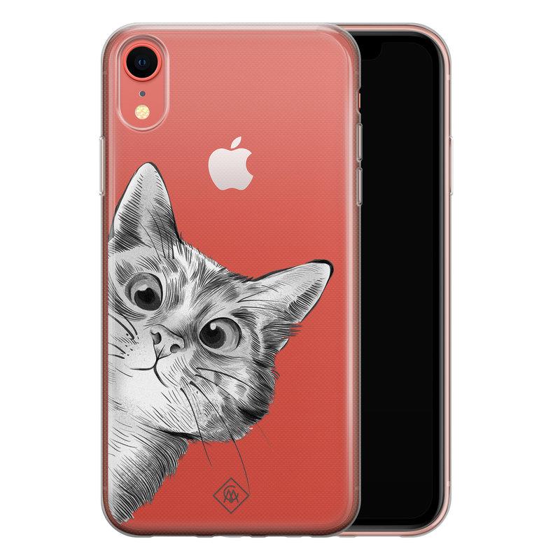 Casimoda iPhone XR transparant hoesje - Peekaboo