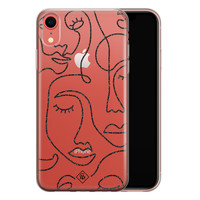 Casimoda iPhone XR transparant hoesje - Abstract faces