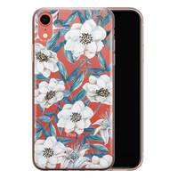 Casimoda iPhone XR transparant hoesje - Touch of flowers