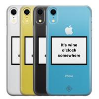 Casimoda iPhone XR transparant hoesje - Wine time
