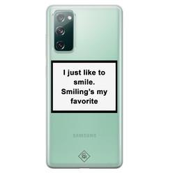 Casimoda Samsung Galaxy S20 FE transparant hoesje - Always smiling