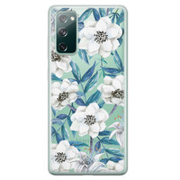 Casimoda Samsung Galaxy S20 FE transparant hoesje - Touch of flowers