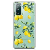 Casimoda Samsung Galaxy S20 FE transparant hoesje - Lemons