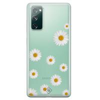 Casimoda Samsung Galaxy S20 FE transparant hoesje - Daisies