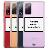 Casimoda Samsung Galaxy S20 FE transparant hoesje - Wine time