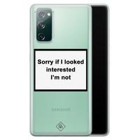 Casimoda Samsung Galaxy S20 FE transparant hoesje - Not interested