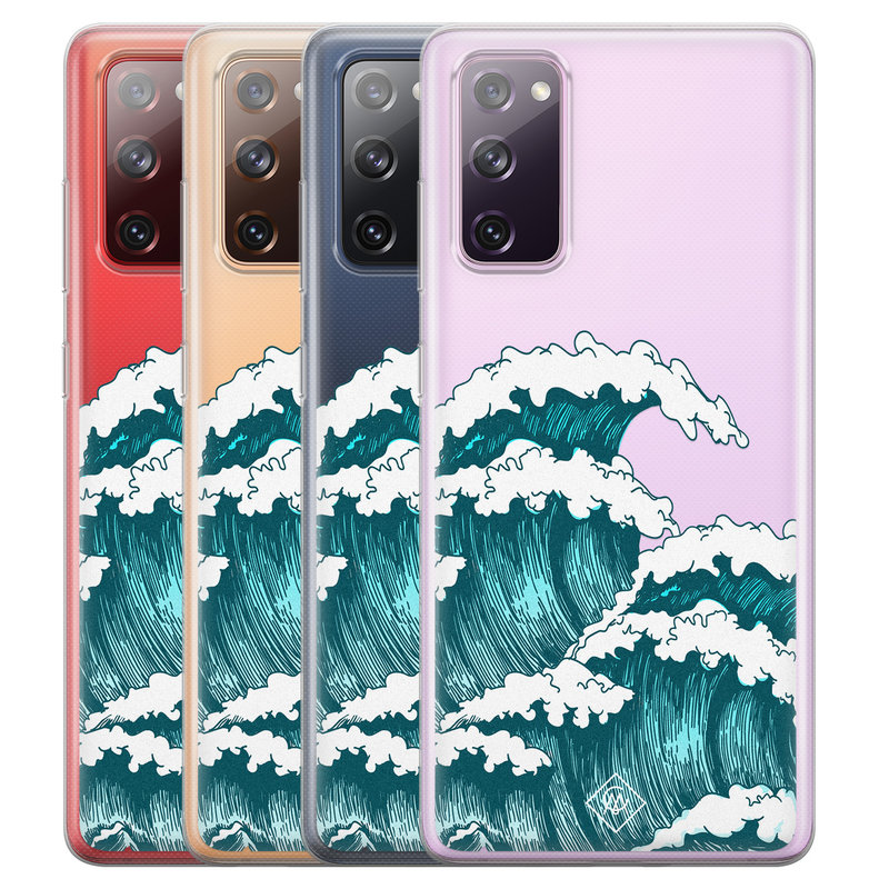 Casimoda Samsung Galaxy S20 FE transparant hoesje - Wave