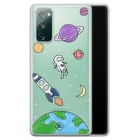 Casimoda Samsung Galaxy S20 FE transparant hoesje - Universum