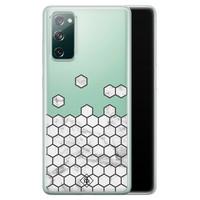 Casimoda Samsung Galaxy S20 FE transparant hoesje - Marmer grijs abstract