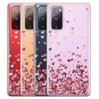 Casimoda Samsung Galaxy S20 FE transparant hoesje - Falling hearts