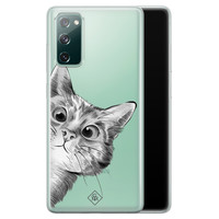 Casimoda Samsung Galaxy S20 FE transparant hoesje - Peekaboo