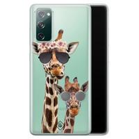 Casimoda Samsung Galaxy S20 FE transparant hoesje - Giraffe