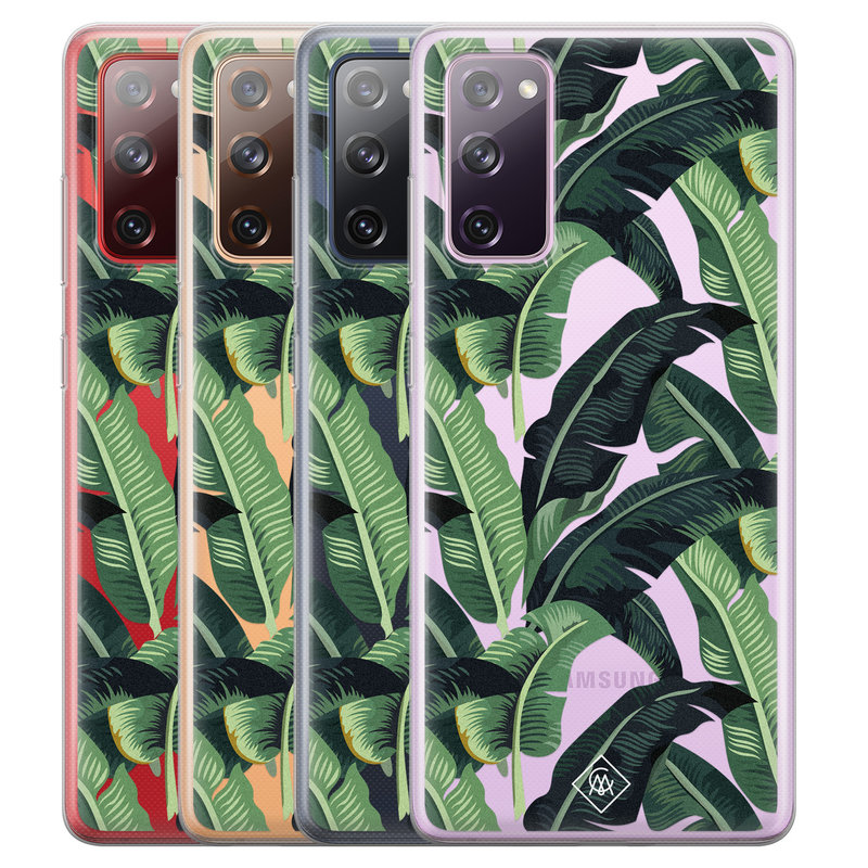 Casimoda Samsung Galaxy S20 FE transparant hoesje - Jungle