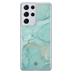 Casimoda Samsung Galaxy S21 Ultra siliconen hoesje - Touch of mint