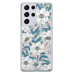 Casimoda Samsung Galaxy S21 Ultra siliconen hoesje - Touch of flowers