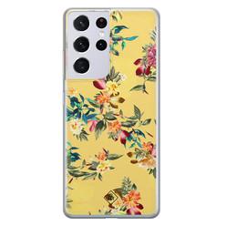 Casimoda Samsung Galaxy S21 Ultra siliconen hoesje - Floral days