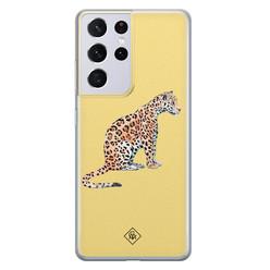 Casimoda Samsung Galaxy S21 Ultra siliconen hoesje - Leo wild