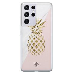 Casimoda Samsung Galaxy S21 Ultra siliconen hoesje - Ananas