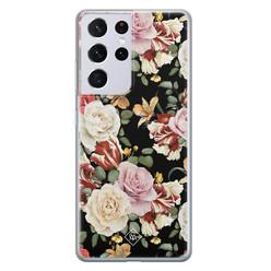 Casimoda Samsung Galaxy S21 Ultra siliconen hoesje - Flowerpower