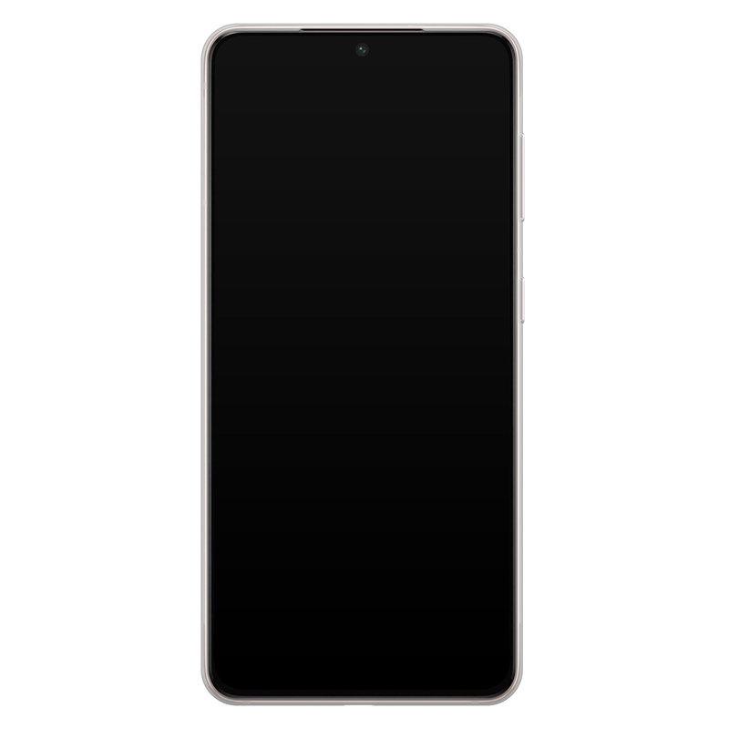 Casimoda Samsung Galaxy S21 Plus siliconen hoesje - Blue cubes