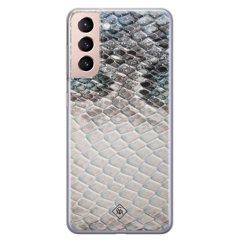 Casimoda Samsung Galaxy S21 Plus siliconen hoesje - Oh my snake