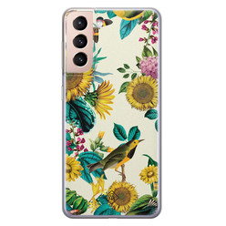 Casimoda Samsung Galaxy S21 Plus siliconen hoesje - Sunflowers