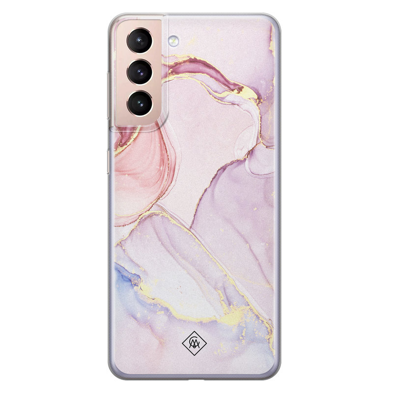 Casimoda Samsung Galaxy S21 Plus siliconen hoesje - Purple sky