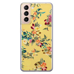 Casimoda Samsung Galaxy S21 Plus siliconen hoesje - Floral days