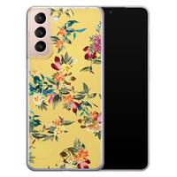 Casimoda Samsung Galaxy S21 Plus siliconen hoesje - Floral days