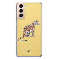Casimoda Samsung Galaxy S21 Plus siliconen hoesje - Leo wild