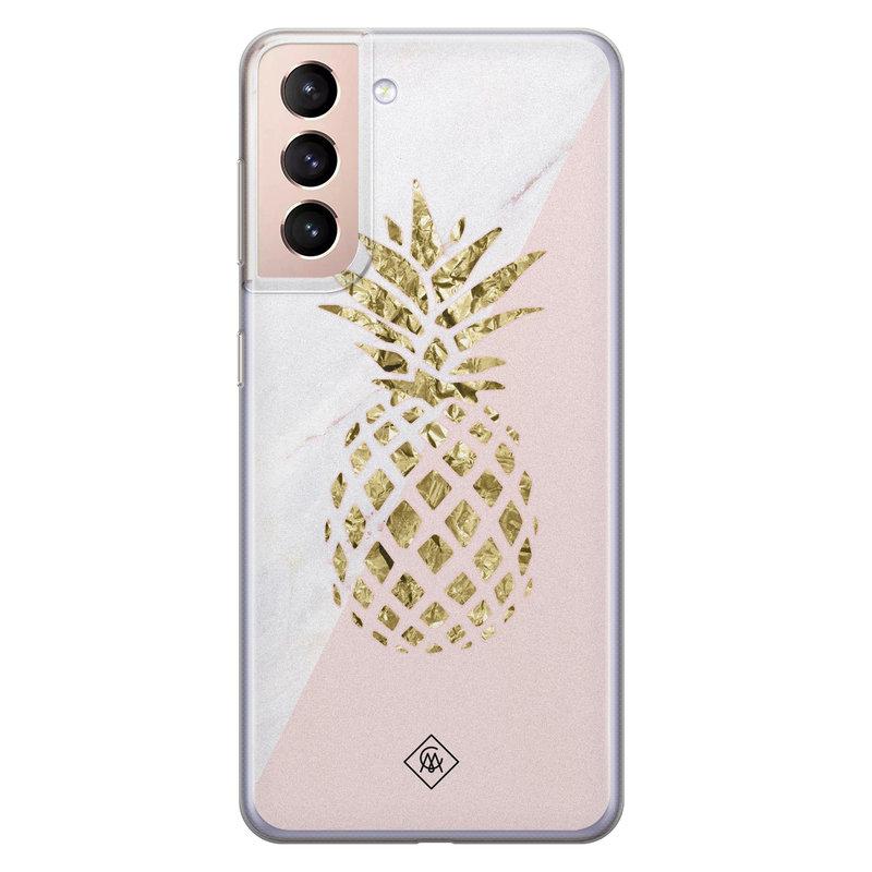 Casimoda Samsung Galaxy S21 Plus siliconen hoesje - Ananas