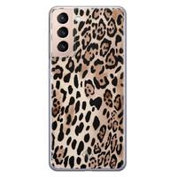 Casimoda Samsung Galaxy S21 Plus siliconen hoesje - Golden wildcat
