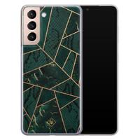 Casimoda Samsung Galaxy S21 Plus siliconen hoesje - Abstract groen