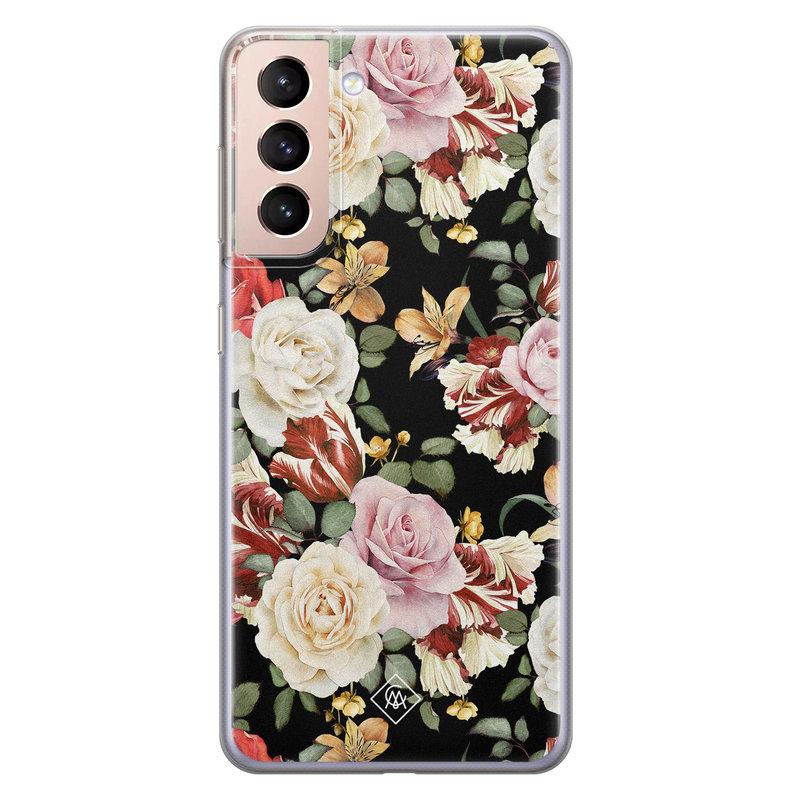 Casimoda Samsung Galaxy S21 Plus siliconen hoesje - Flowerpower