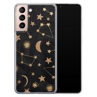 Casimoda Samsung Galaxy S21 Plus siliconen hoesje - Counting the stars