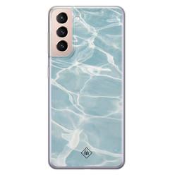 Casimoda Samsung Galaxy S21 Plus siliconen hoesje - Oceaan