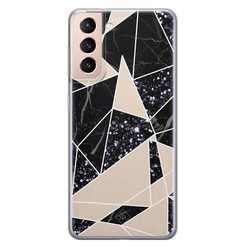Casimoda Samsung Galaxy S21 Plus siliconen hoesje - Abstract painted