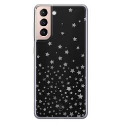 Casimoda Samsung Galaxy S21 Plus siliconen hoesje - Falling stars