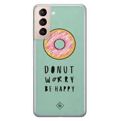 Casimoda Samsung Galaxy S21 Plus siliconen hoesje - Donut worry
