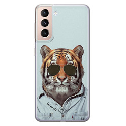 Casimoda Samsung Galaxy S21 Plus siliconen hoesje - Tijger wild