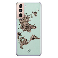 Casimoda Samsung Galaxy S21 Plus siliconen hoesje - Wild world
