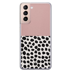 Casimoda Samsung Galaxy S21 Plus siliconen hoesje - Pink dots