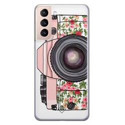Casimoda Samsung Galaxy S21 Plus siliconen hoesje - Hippie camera