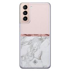 Casimoda Samsung Galaxy S21 Plus siliconen hoesje - Rose all day