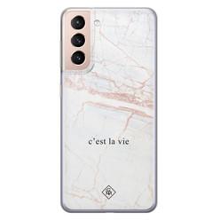 Casimoda Samsung Galaxy S21 Plus siliconen hoesje - C'est la vie