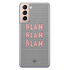 Casimoda Samsung Galaxy S21 Plus siliconen hoesje - Blah blah blah