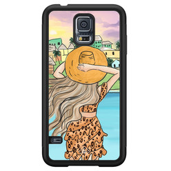 Casimoda Samsung Galaxy S5 hoesje - Sunset girl