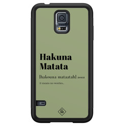 Casimoda Samsung Galaxy S5 hoesje - Hakuna Matata